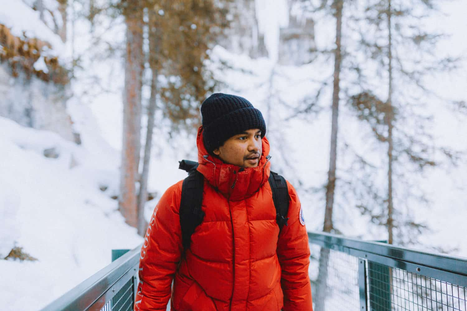 Banff Winter Packing List - Berty in Red Parka - TheMandagies.com