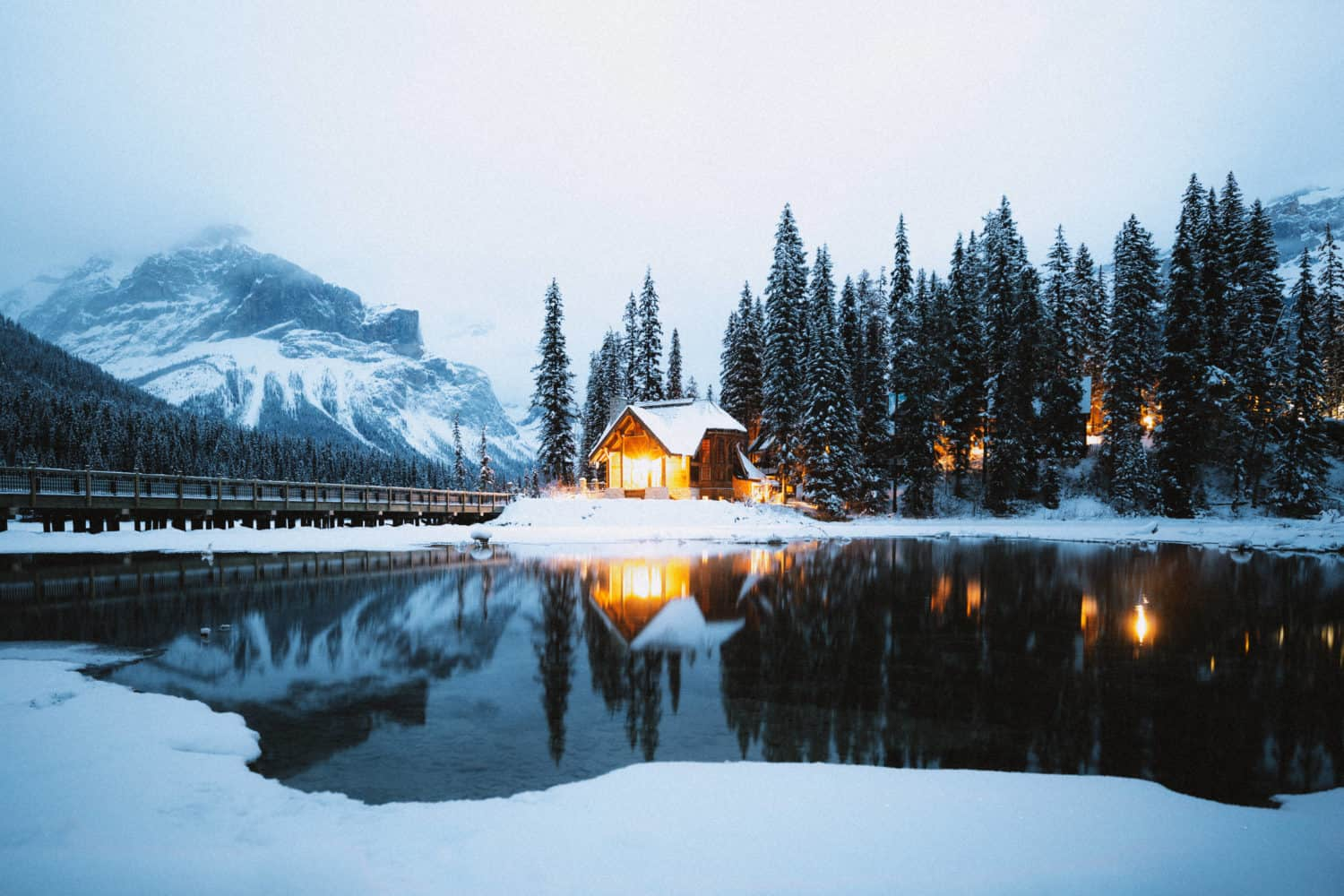 Emerald Lake Lodge In Winter - TheMandagies.com