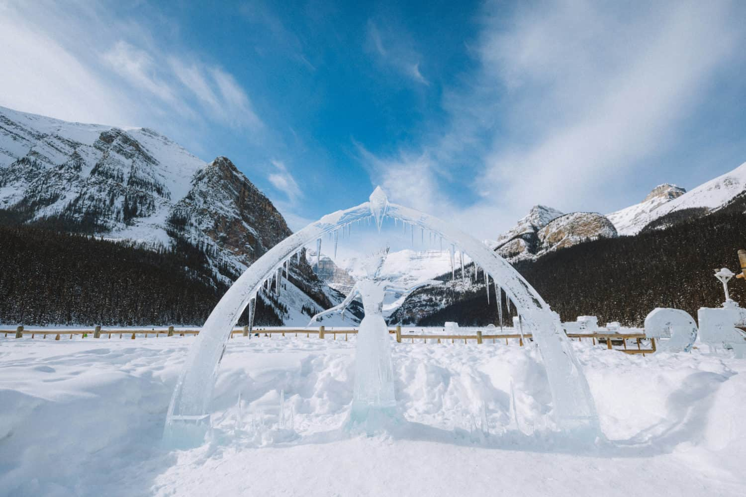 Ice Sculptures at Lake Louise Banff - TheMandagies.com