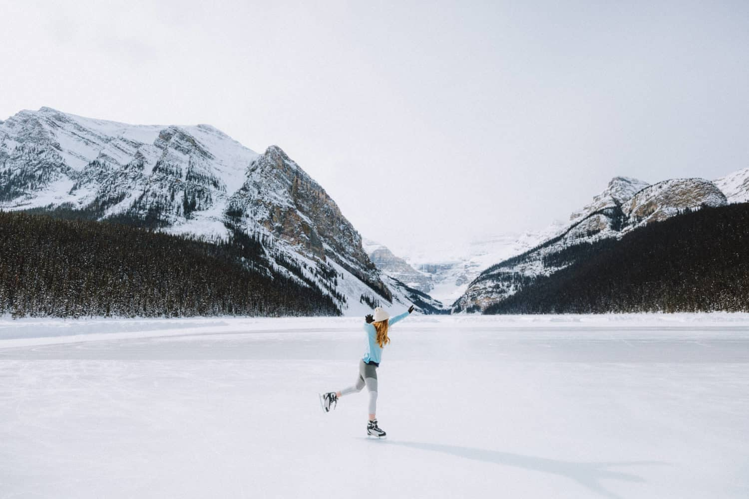 Ice Skating Lake Louise Winter - TheMandagies.com