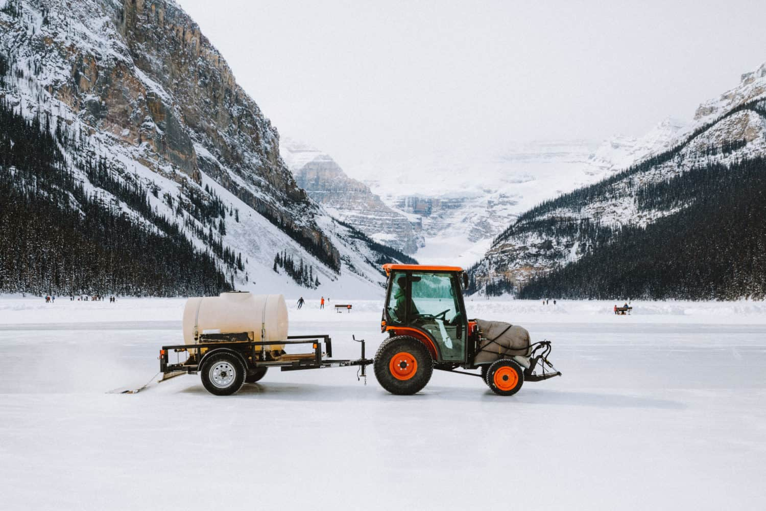 Zamboni Ice Skating on Lake Louise - TheMandagies.com