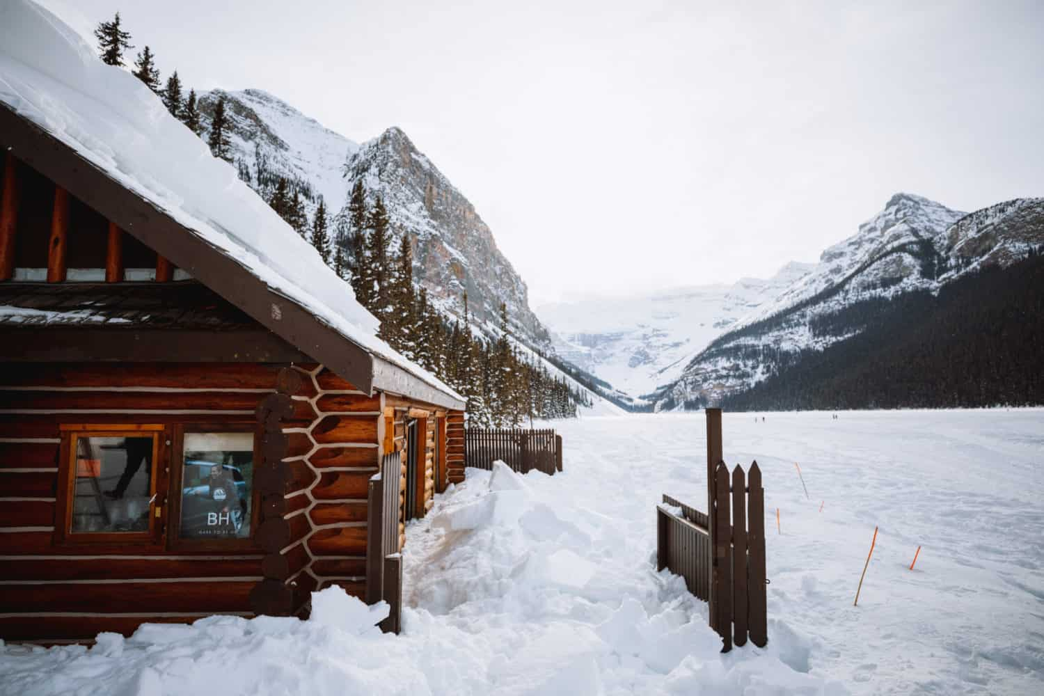 Snow Hut on Lake Louise Banff National Park - TheMandagies.com