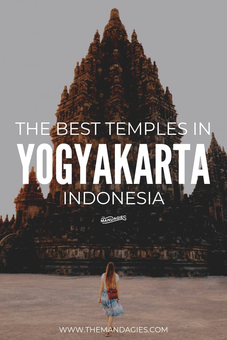 Looking to visit the best temples in Yogyakarta, Indonesia? We're sharing all the best temple locations, what to see in Yogyakarta, how to get around, and the best times to visit them all! Save this pin for later to help plan your next Indonesia trip! #prambanan #borobudur #temple #indonesia #yogyakarta #centraljava #UNESCO #sunrise #hindu #buddhist #asia #southeastasia #travel