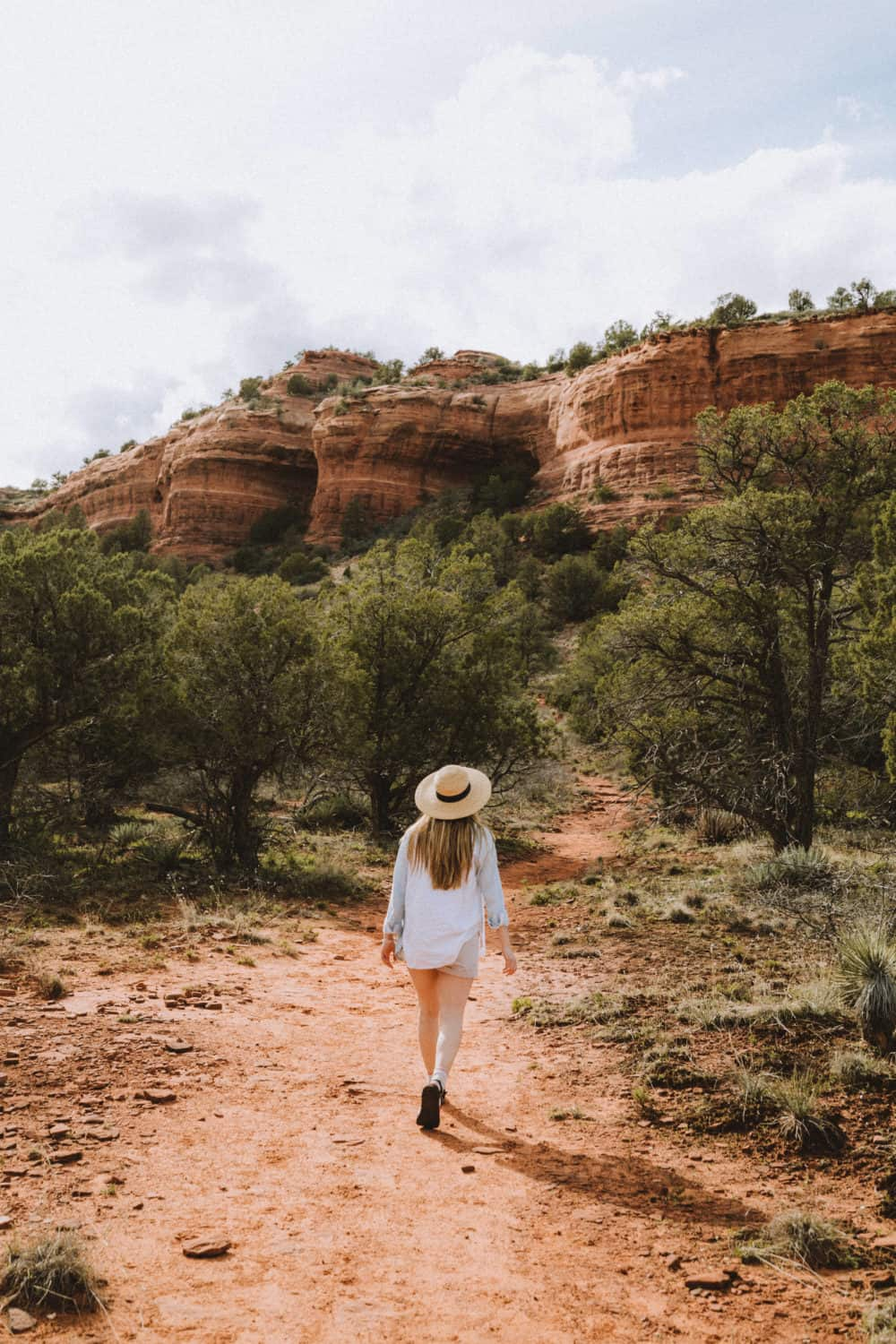Emily walking to the Birthing Cave in Sedona
