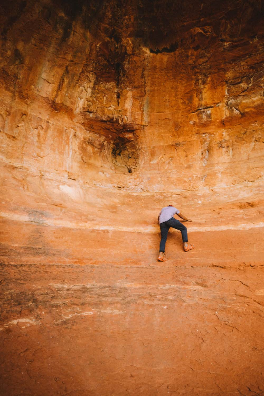Berty climbing at the Birthing Cave - TheMandagies.com