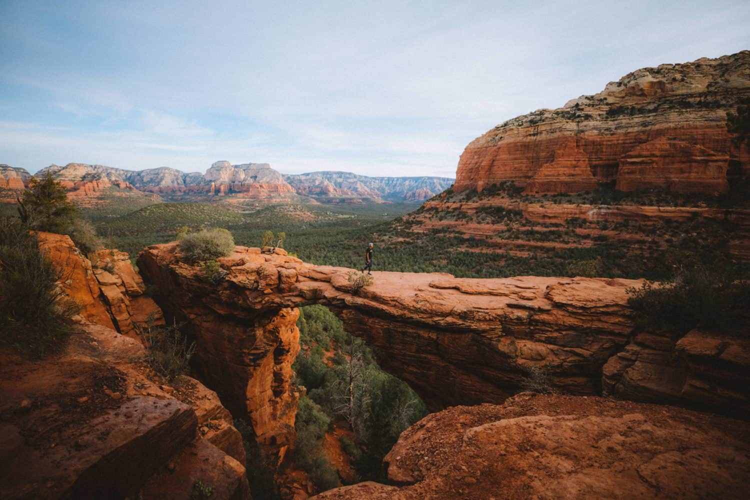 Berty walking on Devil's Bridge in Sedona Arizona - TheMandagies.com