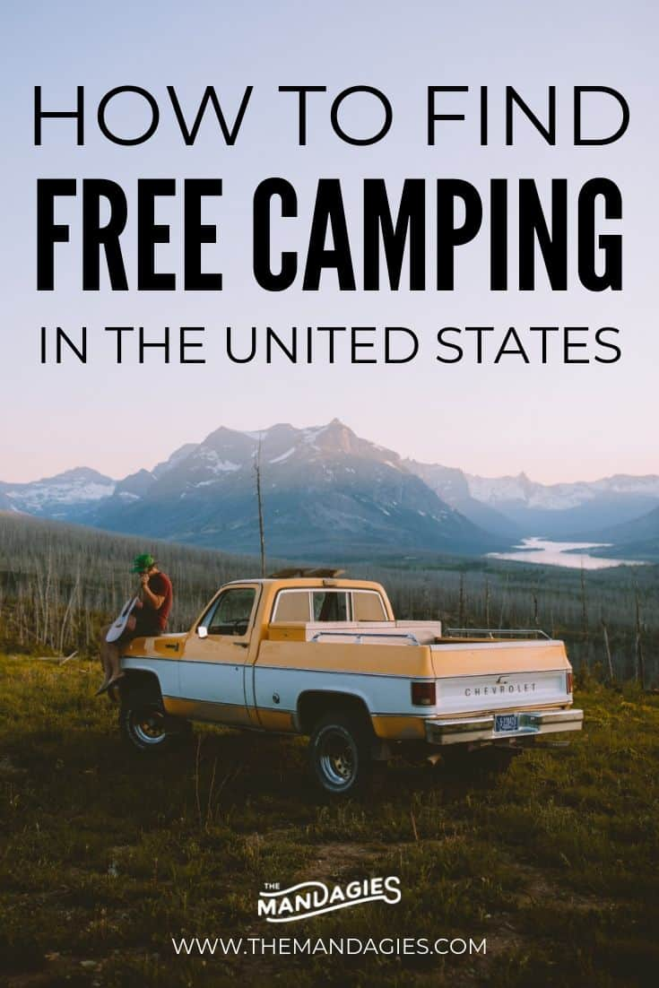 Ready to go camping this summer but can't find the right spot? We're sharing our ultimate guide to finding free camping in the USA! We'll show you how to research, find free campsites, and pack for your next backcountry adventure! #camping #USA #roadtrip #free #budgettravel #campsite #campingmeals #checklist #campingchecklist #backcountry #BLM #nationalparks #nationalforests