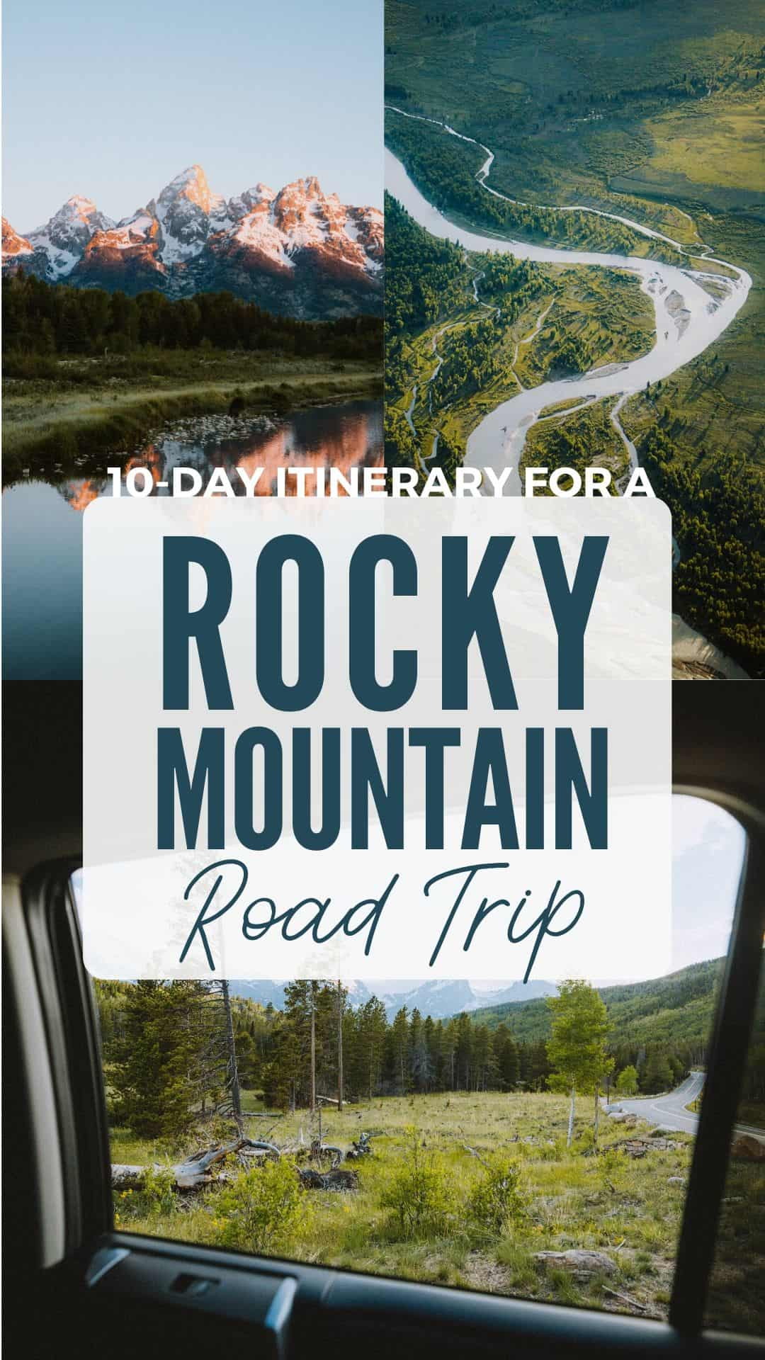 Looking for a cool summer road trip in the USA? Consider exploring the mountains with a Rocky Mountain road trip! We're sharing the best places to visit in USA and the Canadian Rocky Mountains, including 6 national parks (Rocky Mountain, Yellowstone, Grand Teton, Glacier, Banff, Jasper) and lots more! Save this post for later! #rockymountains #canadianrockies #roadtrip #USA #adventure #photography #nationalparks #themandagies #wyoming #colorado #denver #montana #alberta #banff #jasper