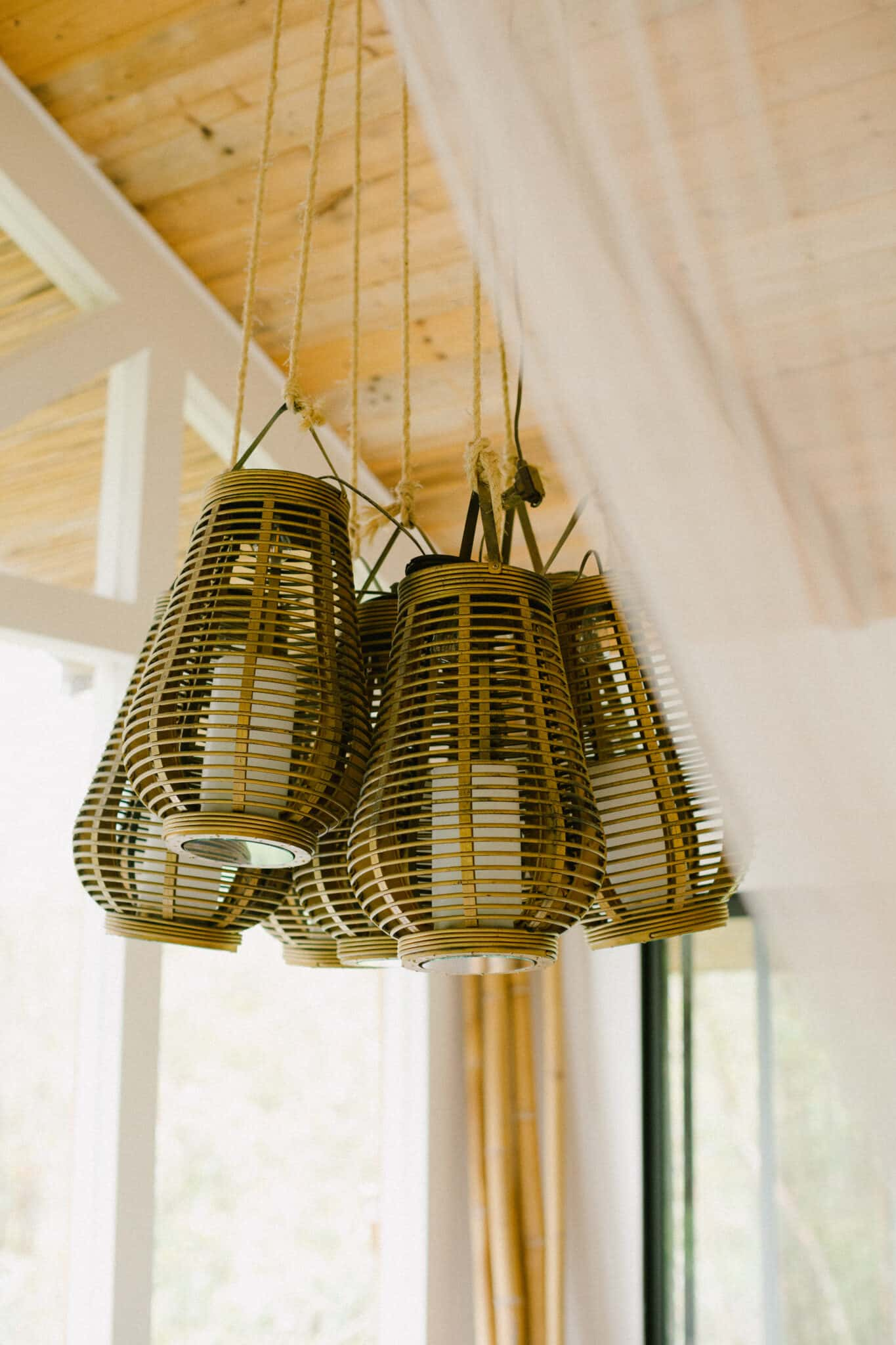 Custom Light Fixture in Hawaii Treehouse