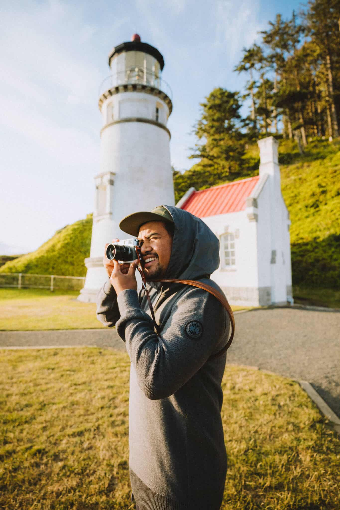 Berty at Heceta Head Lighthouse - TheMandagies.com