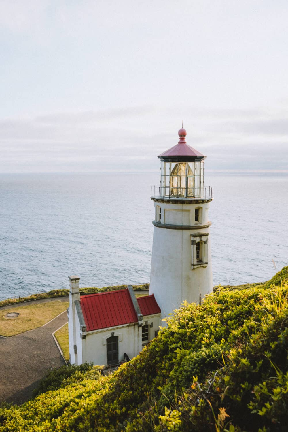 Upper View of Heceta Head Lighthouse - TheMandagies.com