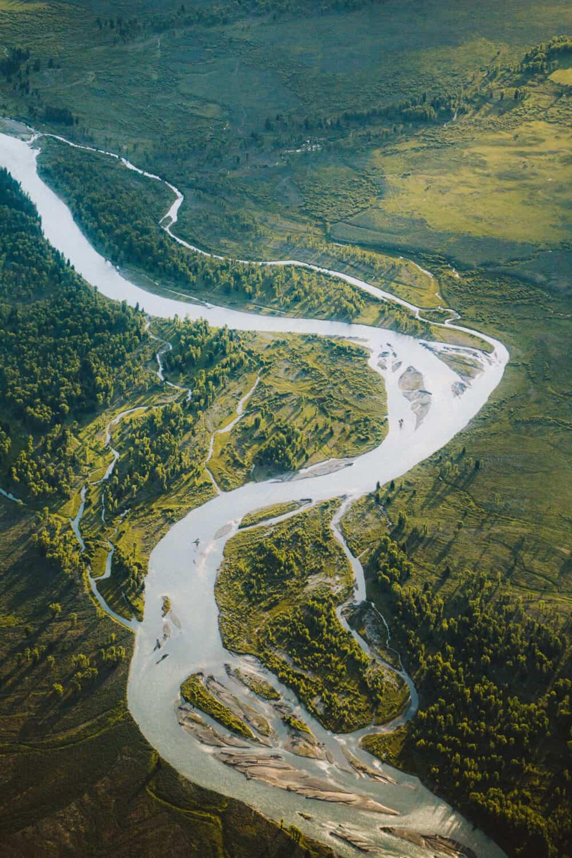 Snake River from a birds eye view - Jackson, Wyoming - TheMandagies.com