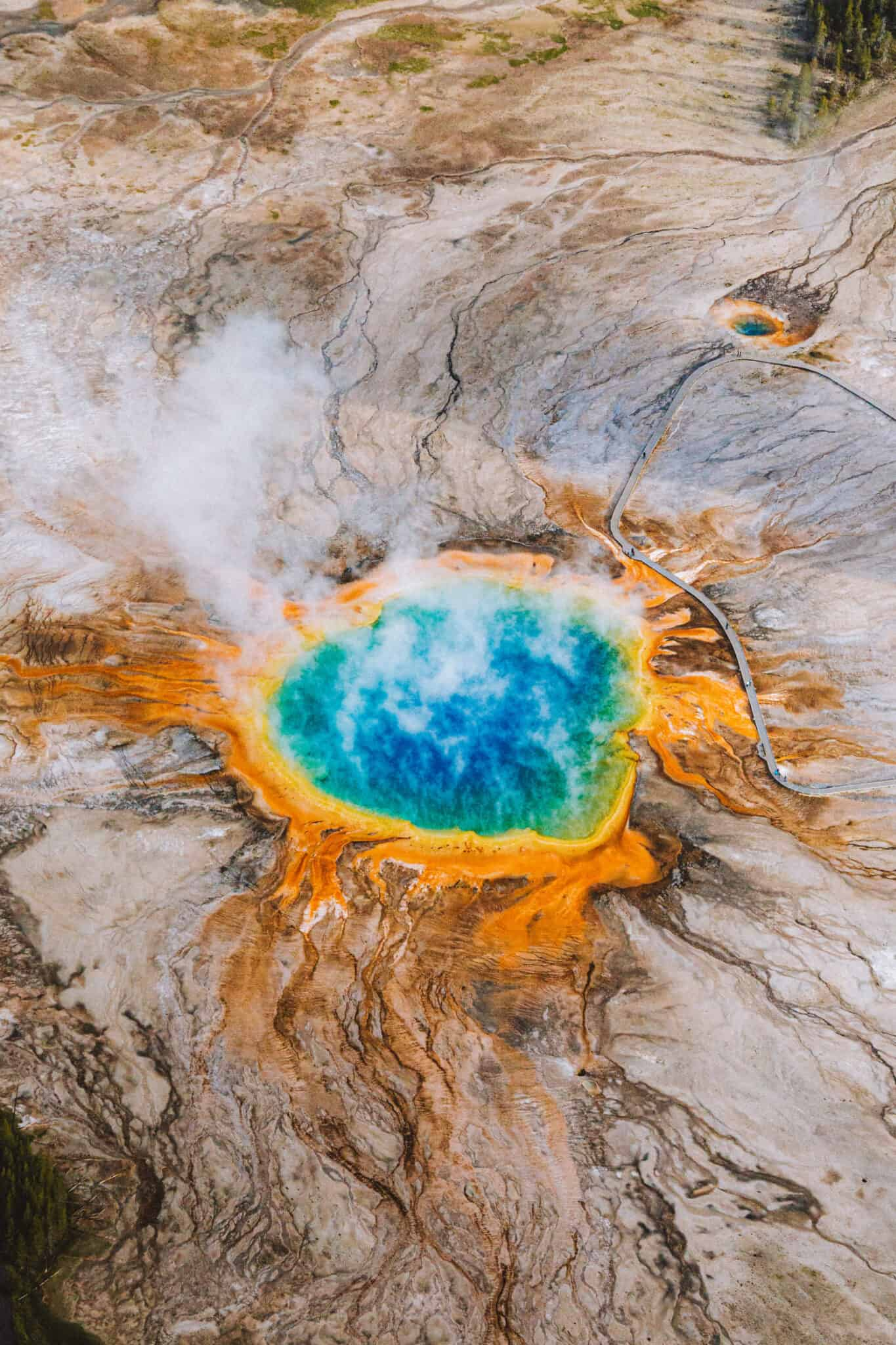 Grand Prismatic From the sky - TheMandagies.com