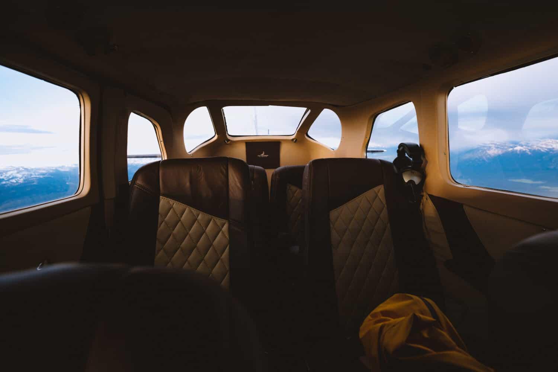 Interior of Fly Jackson Hole plane - TheMandagies.com