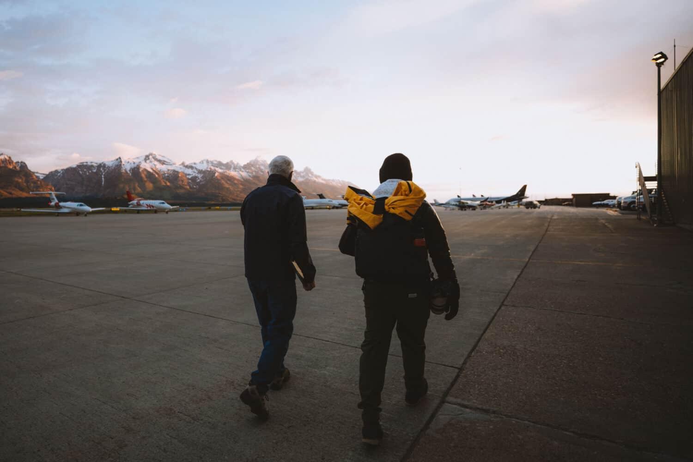 Berty on tarmac Fly Jackson Hole - TheMandagies.com