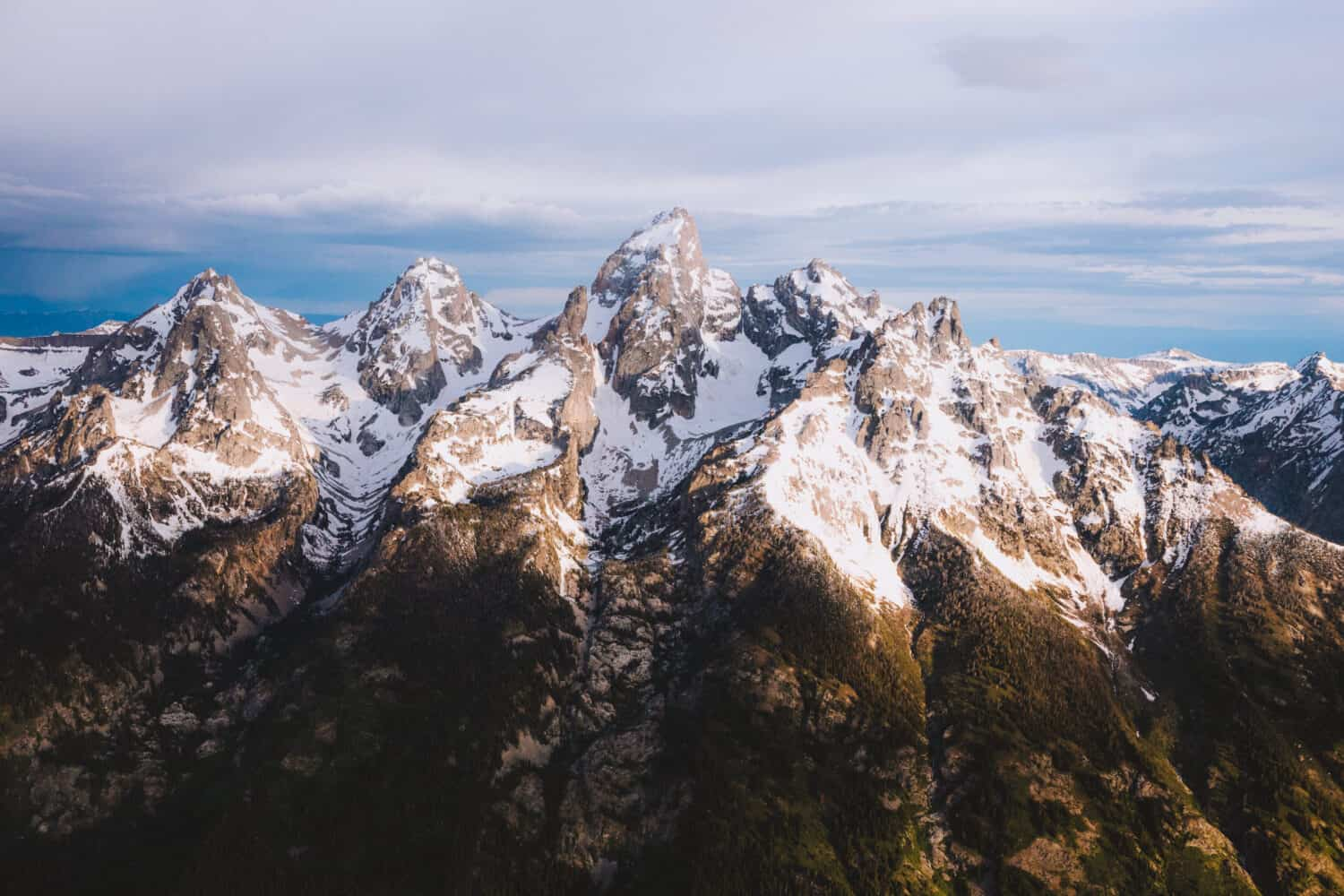 Grand Tetons from above - aerial photography - TheMandagies.com
