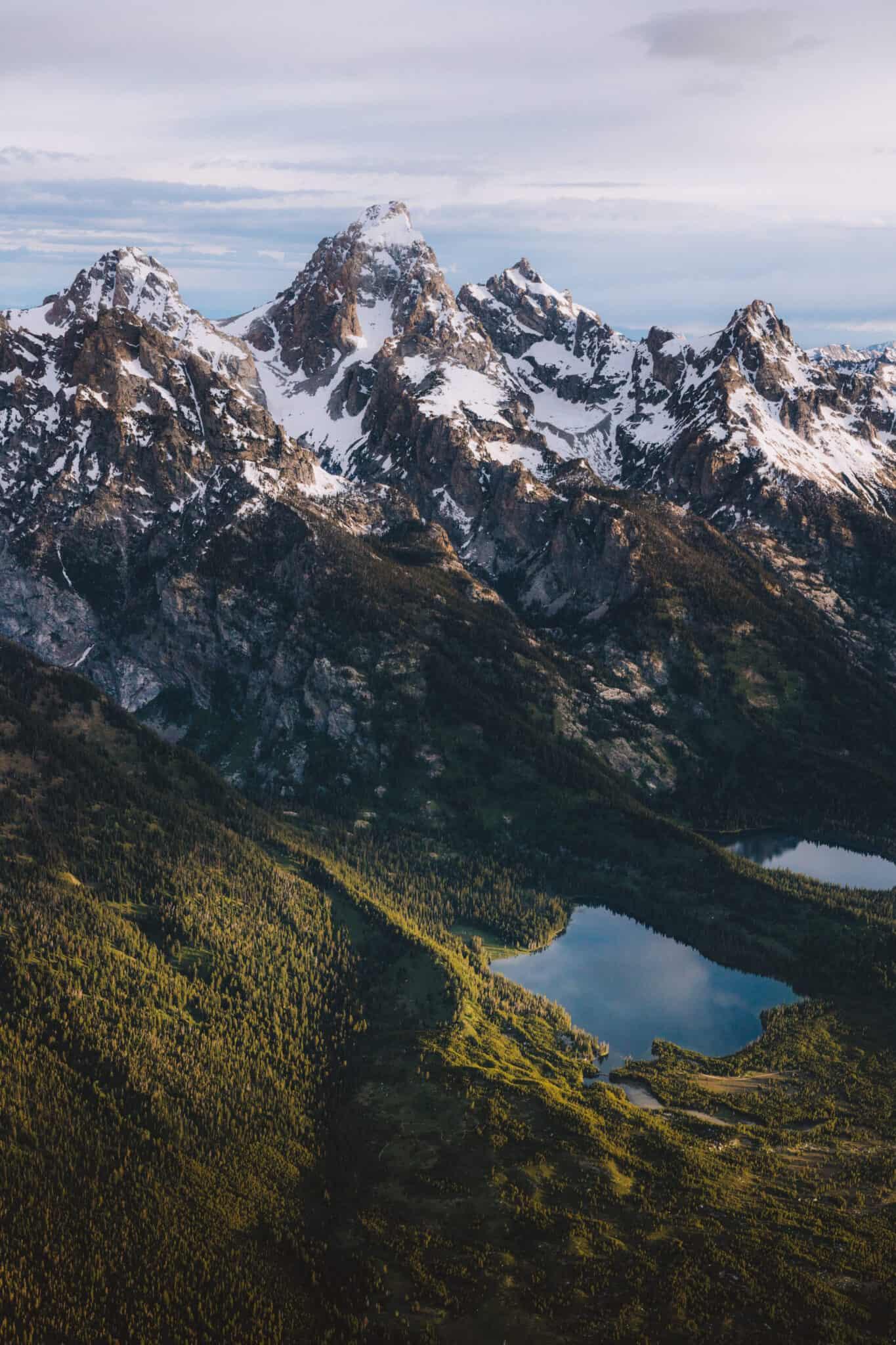 Glacial lakes below Grand Teton range - TheMandagies.com