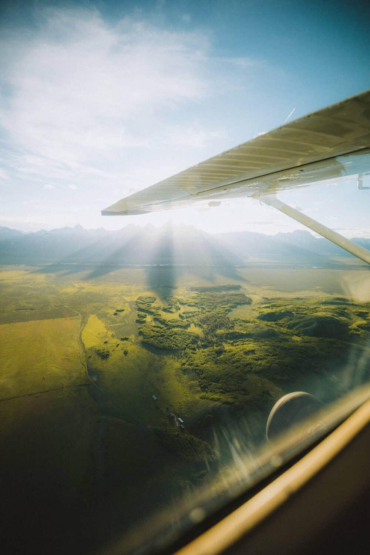 sun glare from above Grand Teton National Park - TheMandagies.com