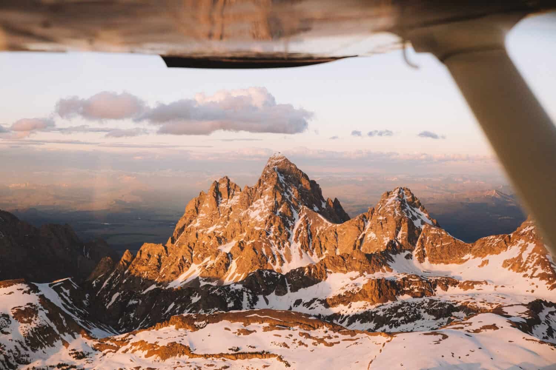 Grand Teton peak during sunset - TheMandagies.com