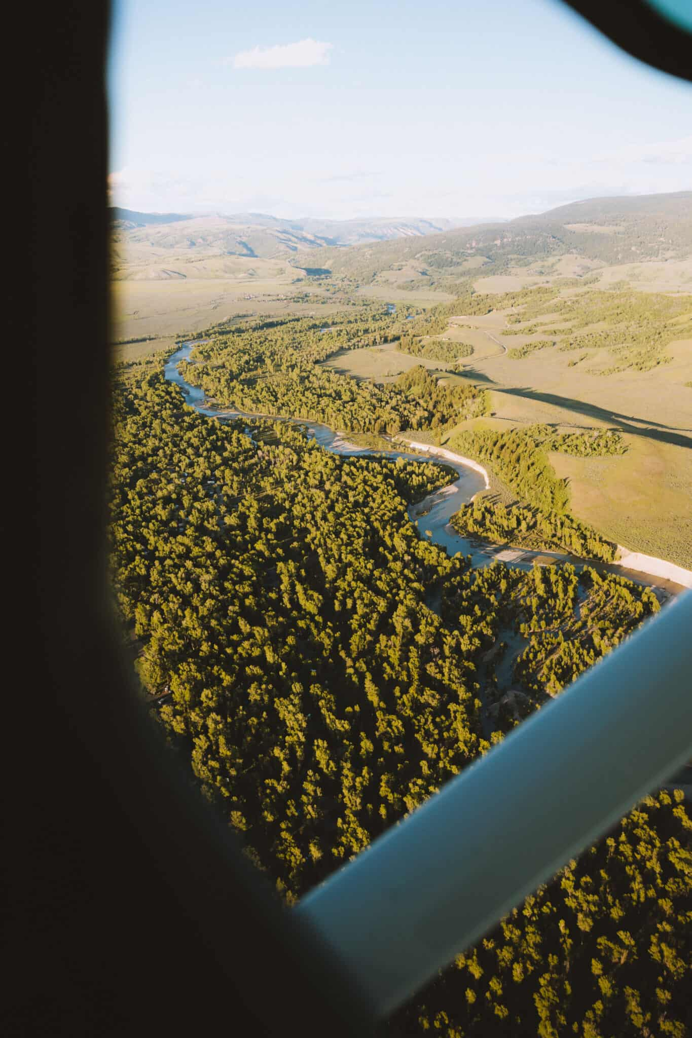 View of Snake River from above during summer - TheMandagies.com