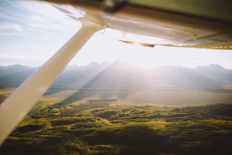 Flying over the Grand Teton National Park - TheMandagies.com