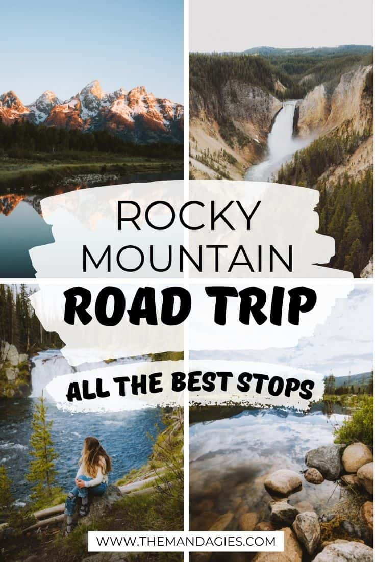 Looking for the ultimate summer adventure? Here's your complete Rocky Mountain Road Trip itinerary - including travel in Colorado, Wyoming, Montana, and even Alberta, Canada! We're sharing all the best national parks along the way, camping tips, and more! #USA #Canada #nationalparks #montana #hiking #colorado #wyoming #yellowstone #photography #sunrise #rockymountains #rockies #grandtetons #glaciernationalpark #Banff #jasper