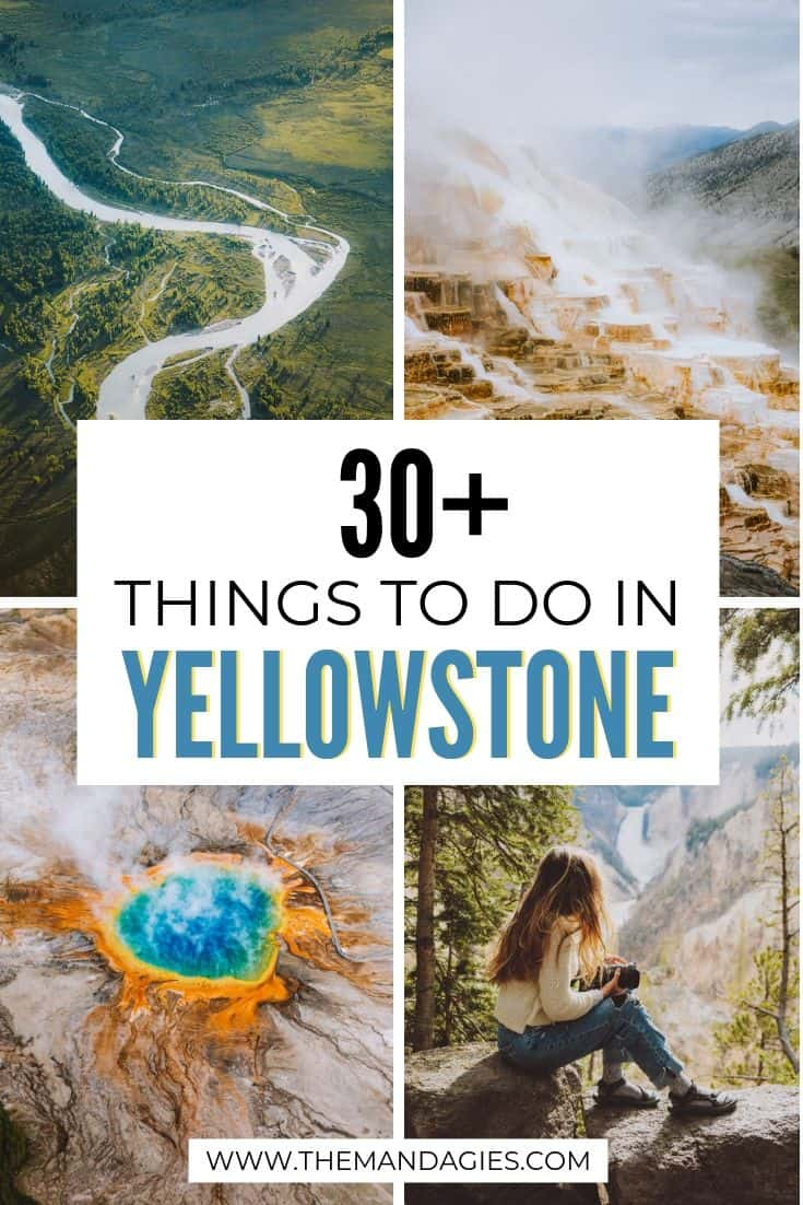 Trying to find a complete list of amazing places to see in Yellowstone National Park? This guide covers all the best things to do in Yellowstone including a Yellowstone road trip route and Yellowstone itinerary. Read it all here! #yellowstone #oldfaithful #grandprismatic #roadtrip #summervacation #nationalpark #travel #USAtravel #USA #autumntravel #travel #photography #hotsprings