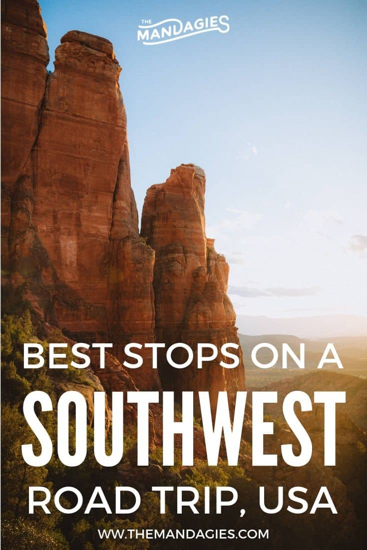Discover the perfect American Southwest Road Trip Itinerary! We're sharing our 10-day Southwest USA road trip plan, including locations in Sedona, Grand Canyon, Arizona, Utah, Death Valley, Alabama Hills, Valley of Fire, Arches, National Parks and more! #southwestUSA #americansouthwest #roadtrip #southerncalifornia #arizona #utah #colorado #nevada #lasvegas #photography #desert