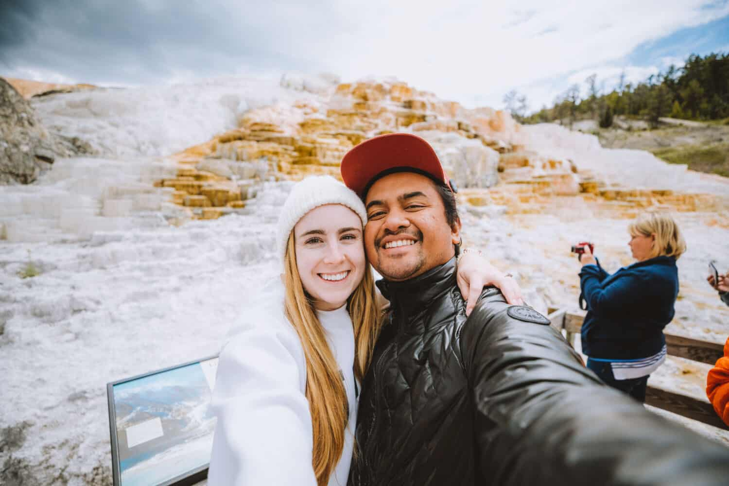 Berty and Emily Mandagie in Yellowstone National Park
