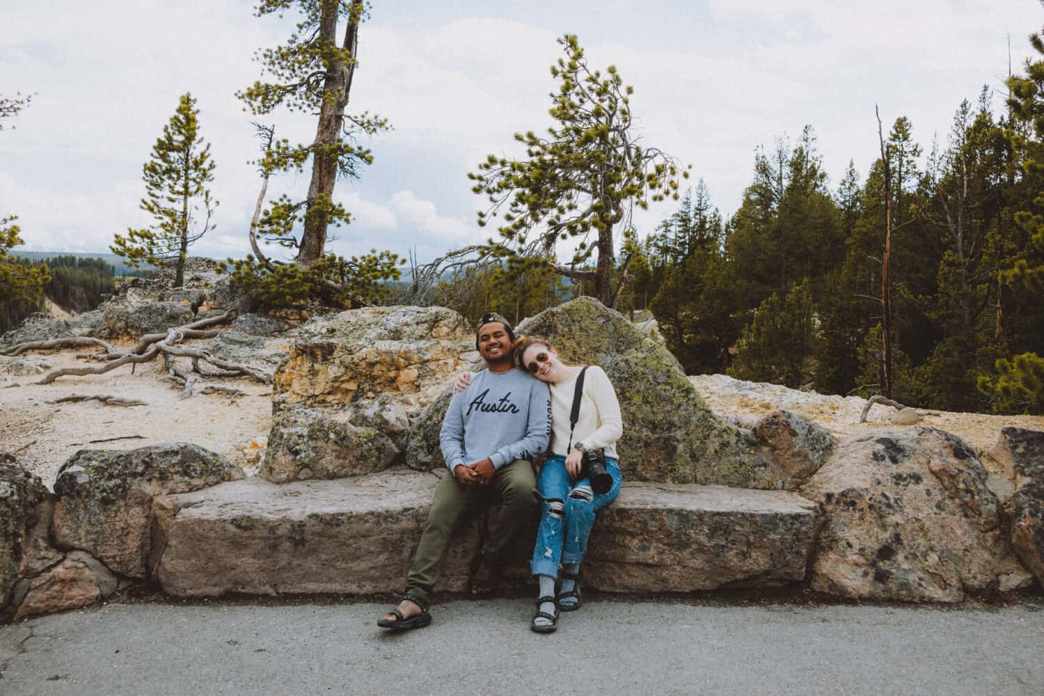 Berty and Emily In Yellowstone National Park