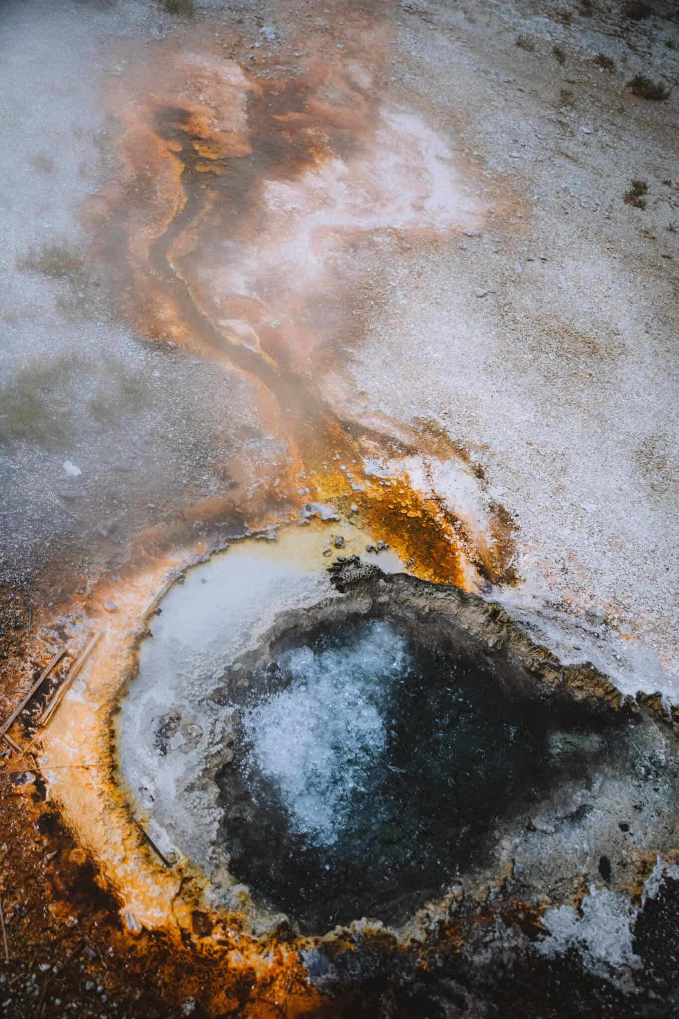 Colorful pools in Yellowstone