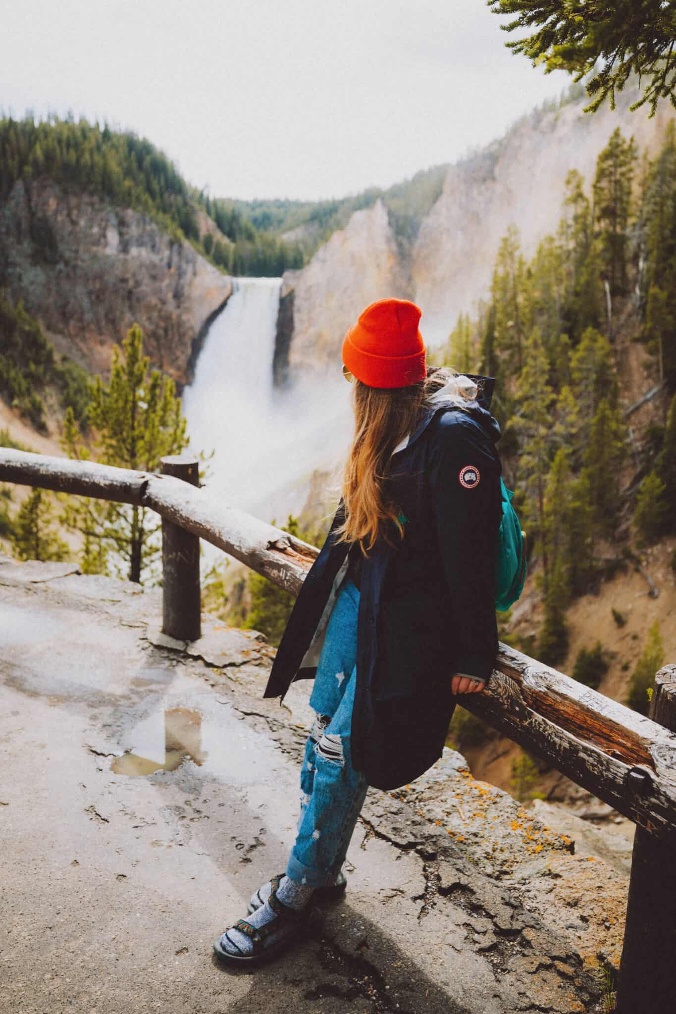 Emily Standing in Yellowstone Canyon