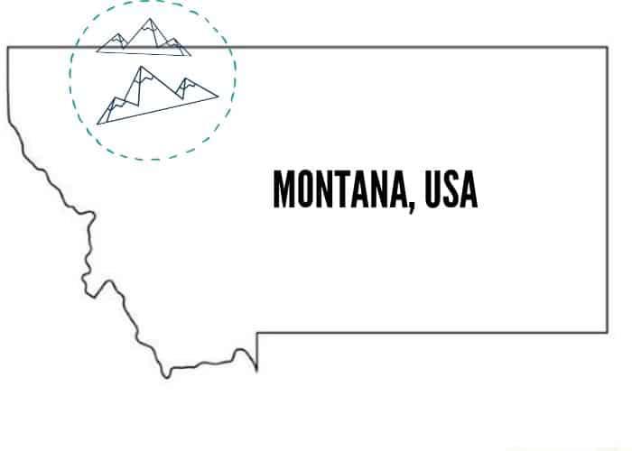 Montana Glacier National Park Map