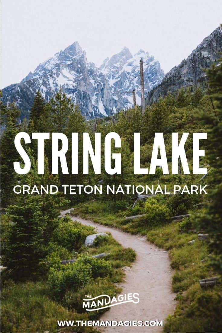 """Hike String Lake Trail in Grand Teton National Park for a beautiful, easy, and fun lake loop. We're sharing everything you need to know about this area near Jackson, Wyoming! #stringlake #grandtetons #grandtetonnationalpark #jacksonhole #hiking #wyoming #travel #lake #photography #mountain #adventure #USA"