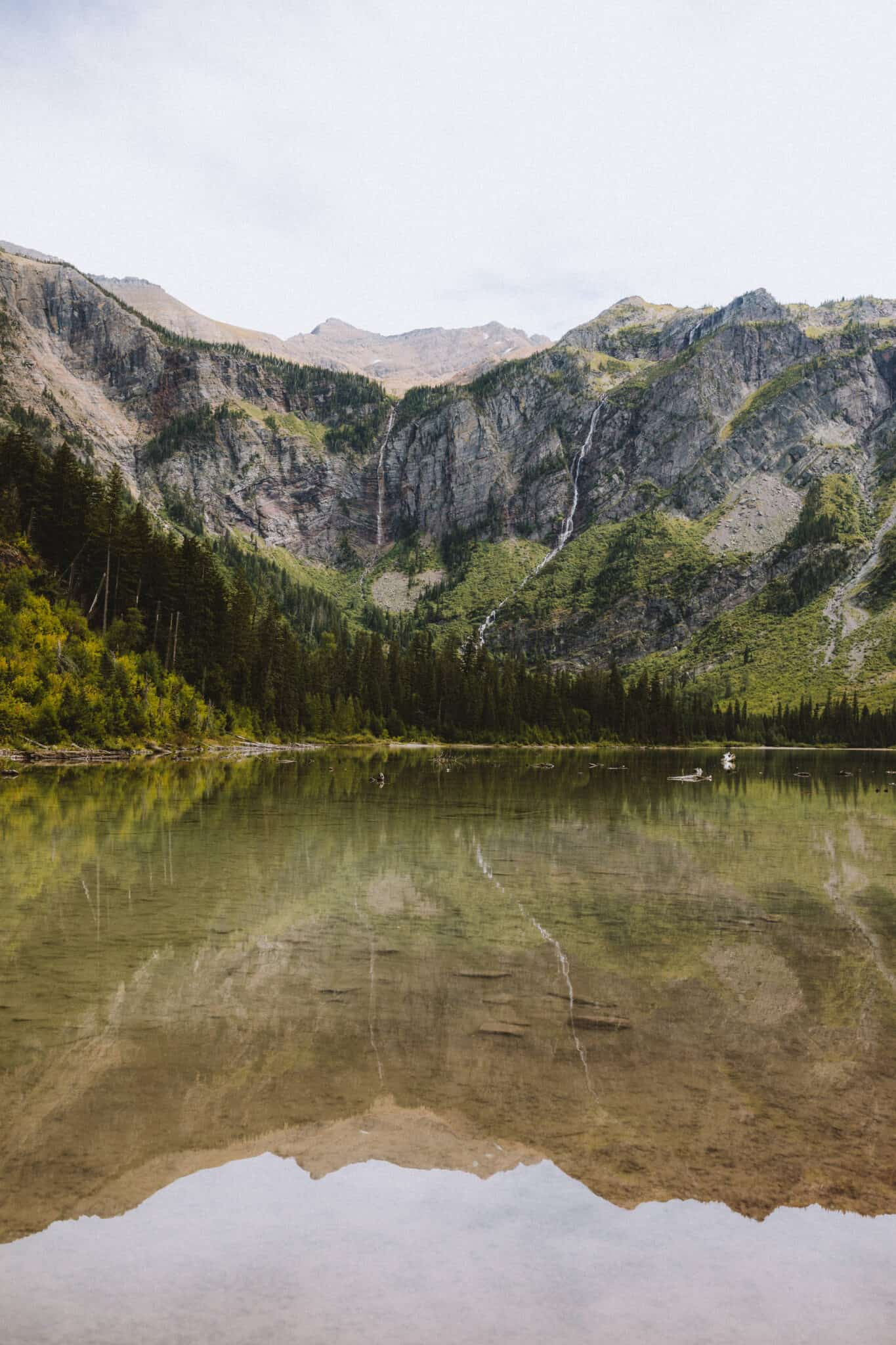 View of Avalanche Lake in Glacier Montana - TheMandagies.com