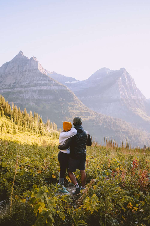 Berty Mandagie and Emily Mandagie in Glacier National Park