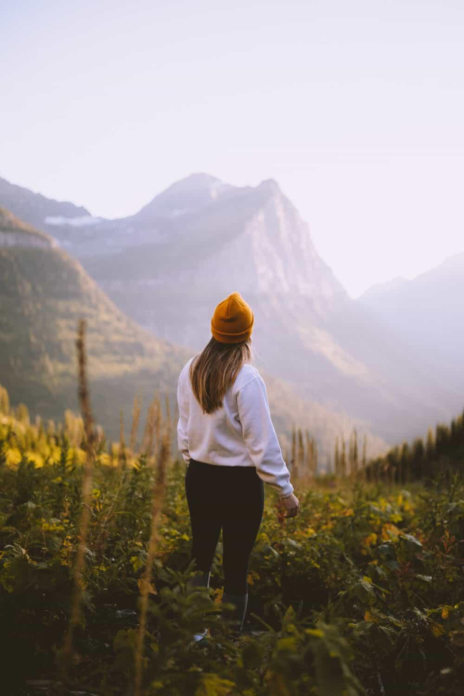 Emily Mandagie in Glacier National Park