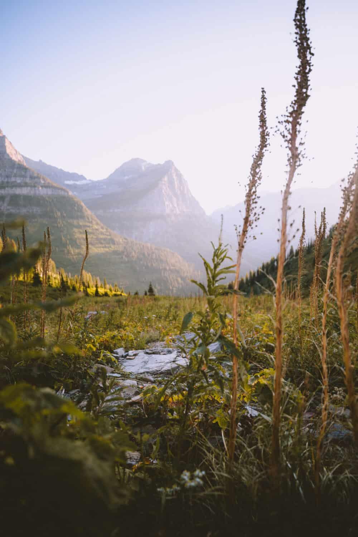 Big Bend At Sunset - Best Time To Visit Glacier National Park