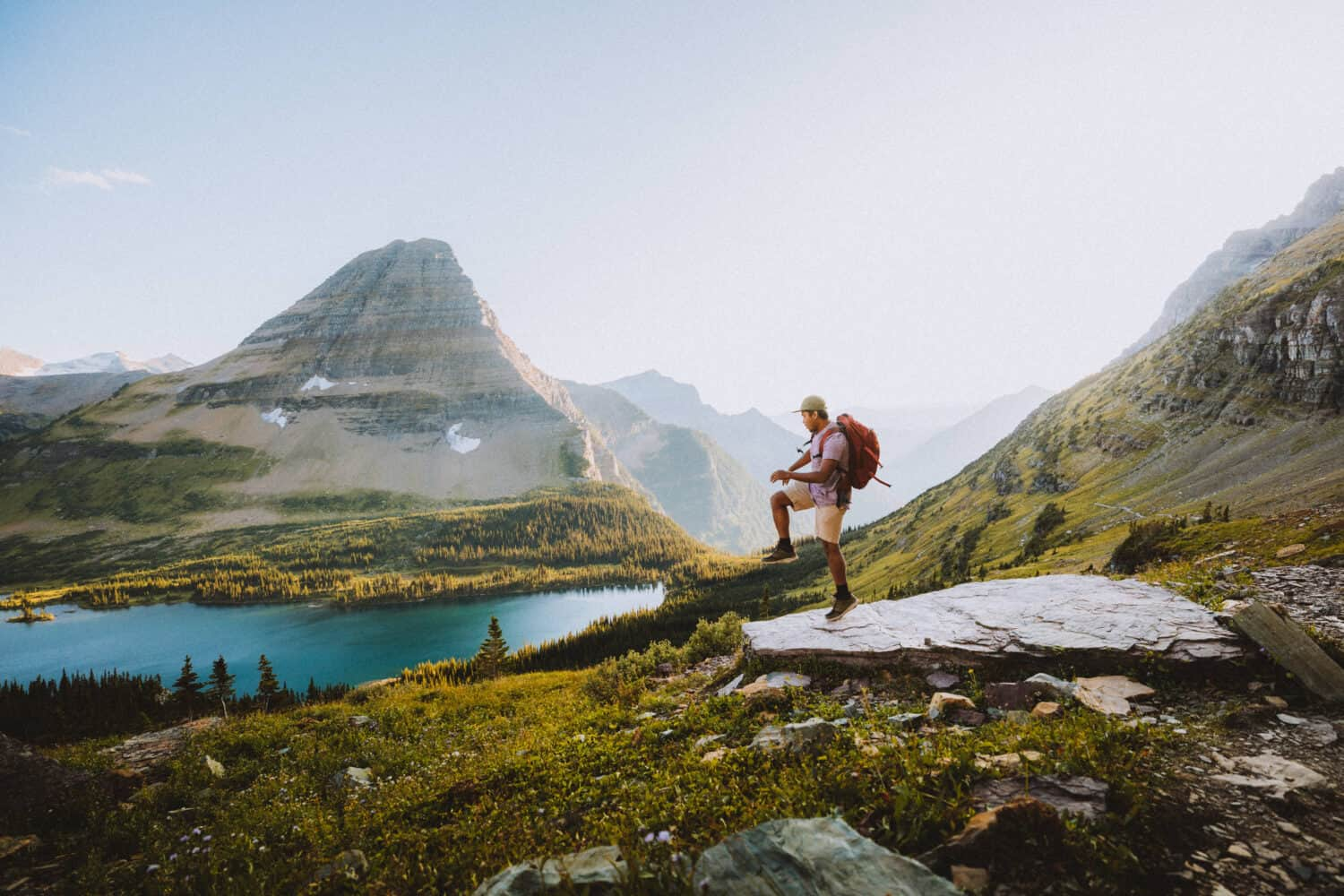 Berty dancing at Hidden Lake Glacier National Park