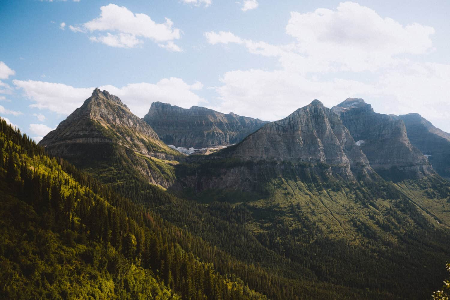 Views of Glacier National Park Mountains