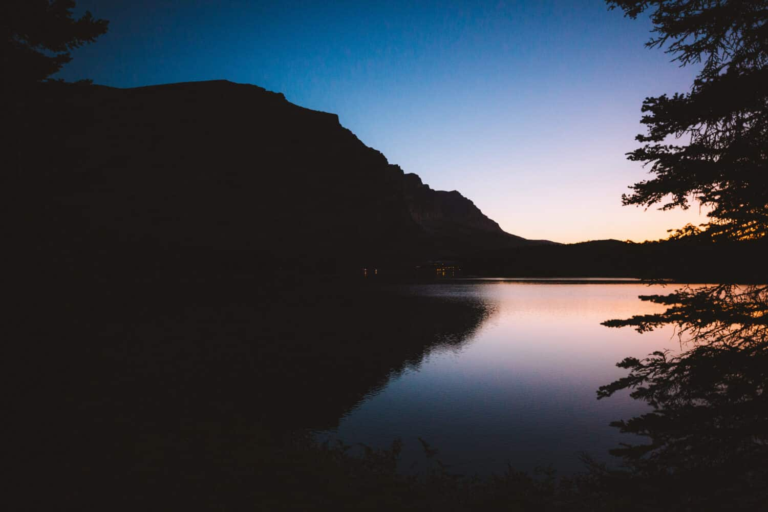 Sunrise on Swiftcurrent Lake, Many Glacier Area of Glacier National Park (TheMandagies.com)