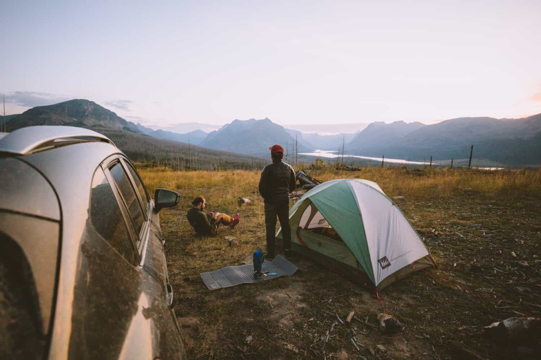 Finding campsites near Glacier National Park, Montana