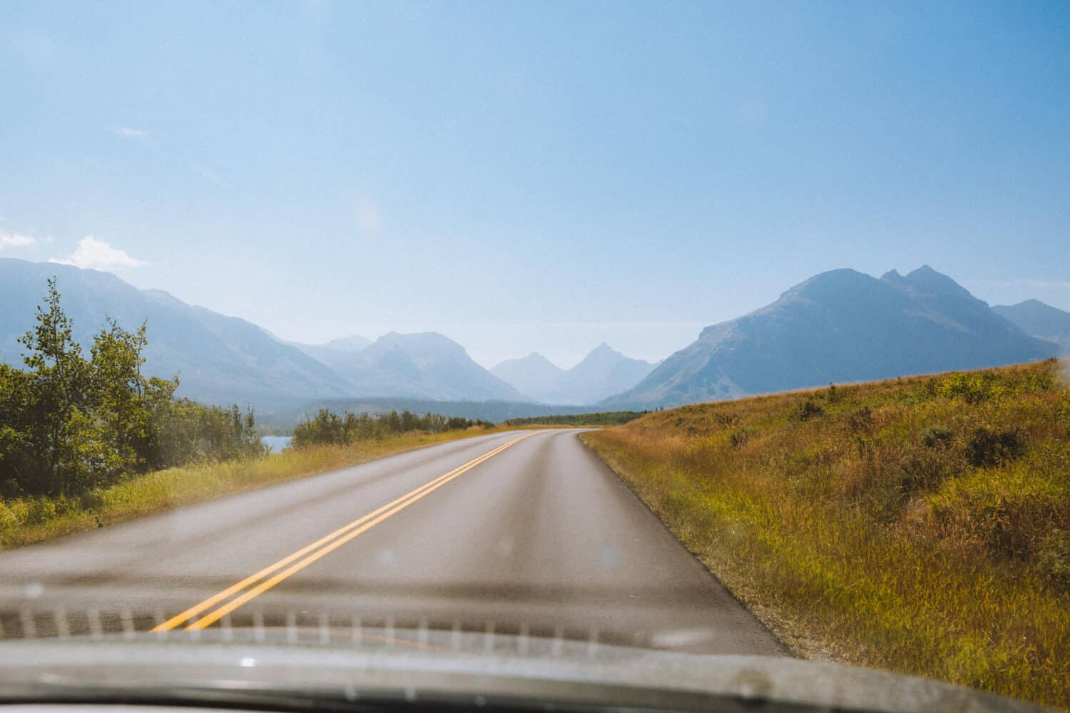 Driving on the Going-To-The-Sun-Road in Glacier National Park