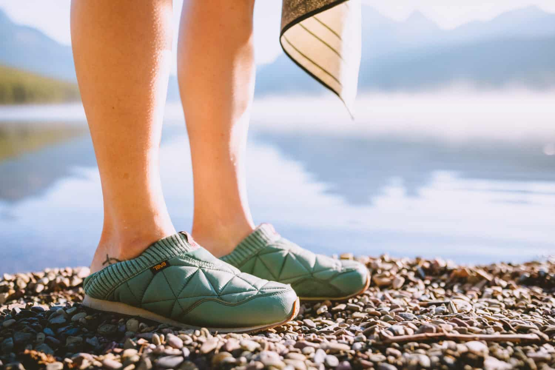 Teva Ember Moc slip on shoes in Mint Green