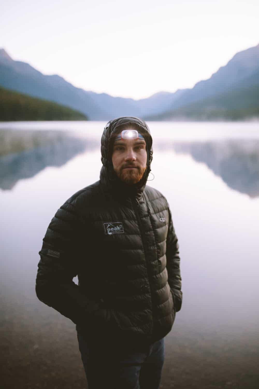 Joseph Roberts at Bowman Lake in Glacier National Park