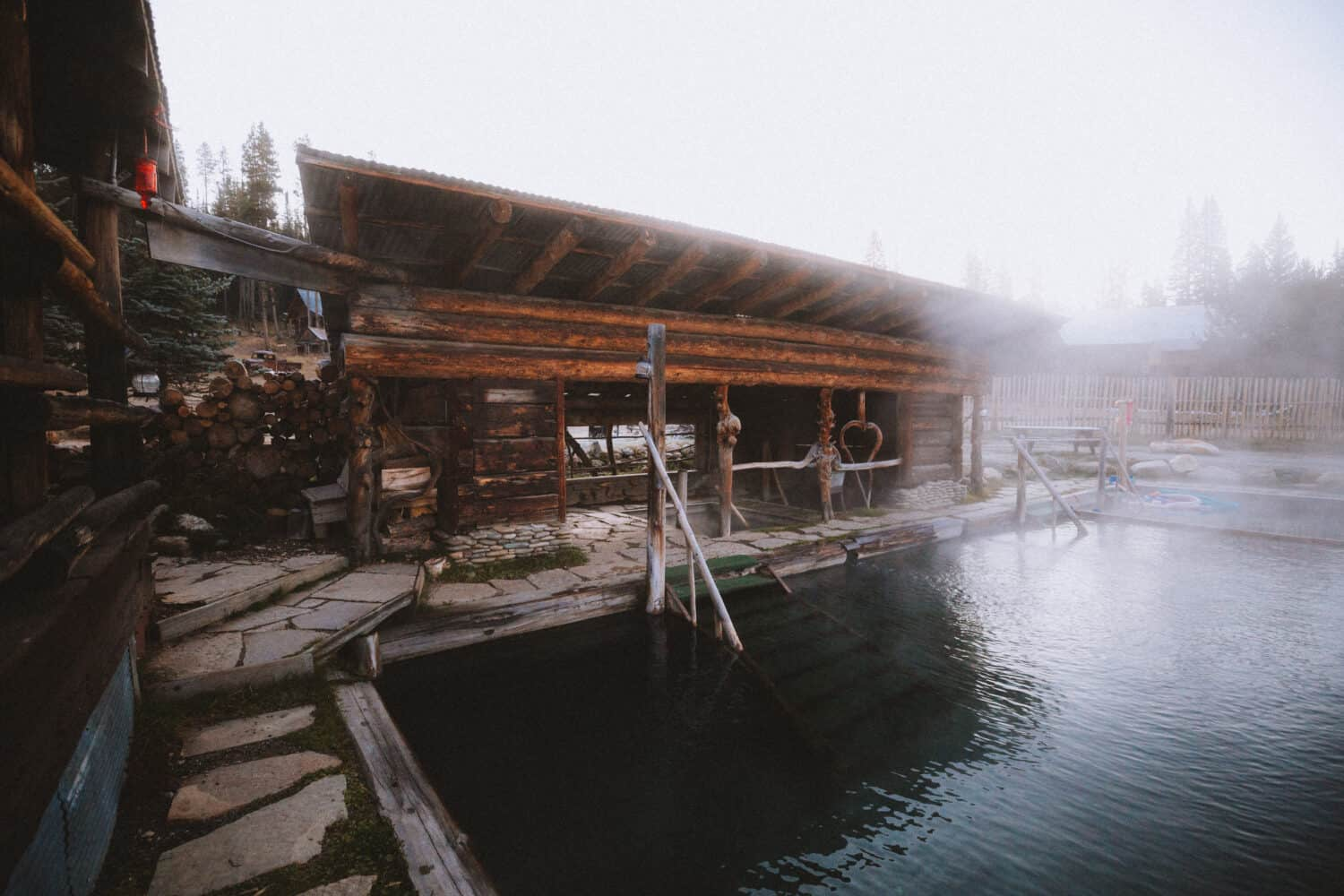 Shelter with two small pools - Burgdorf Hot Springs - TheMandagies.com