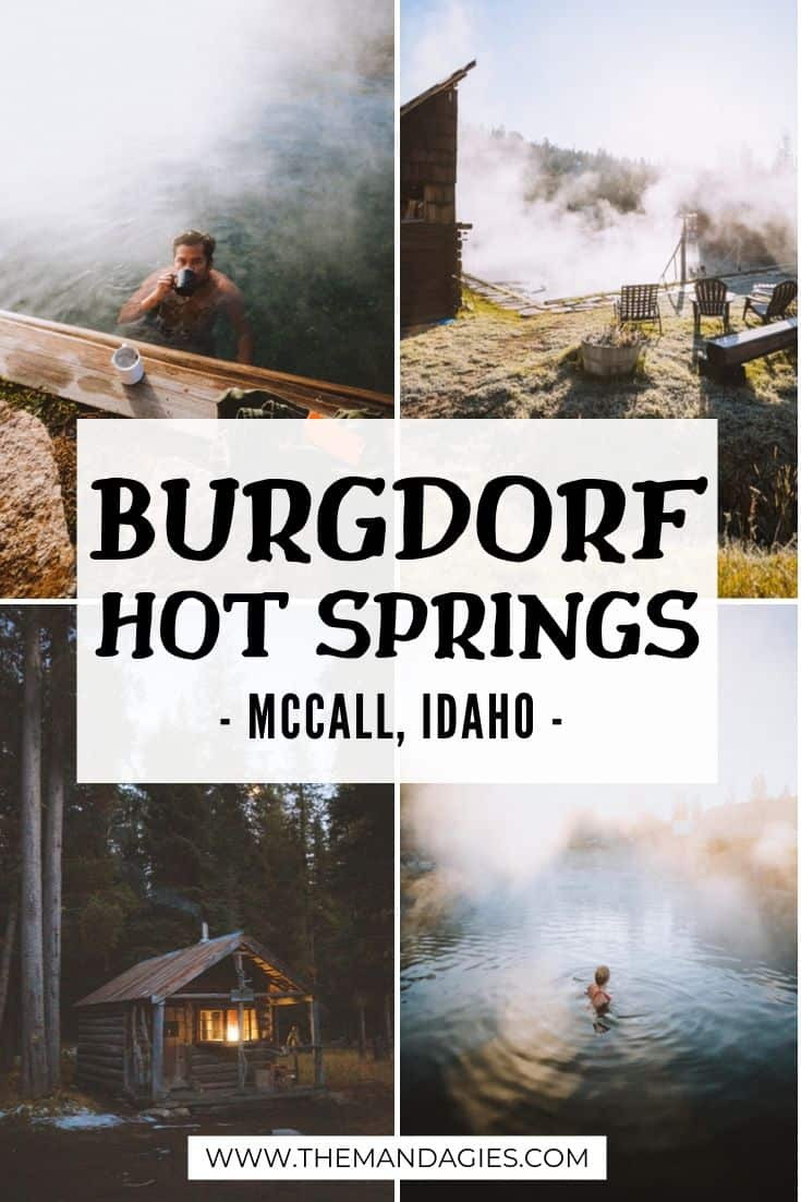 Burgdorf Hot Springs is the ultimate Idaho backcountry escape! With rustic cabins, forest views, and a unique blast from the back, you won't want to miss this amazing Idaho hot springs - just a quick drive from McCall, Idaho. #idaho #payettenationalforest #mccallidaho #hotsprings #idahohotsprings #cabins #travel #westernUSA #photography #ghosttown #mountains #USA