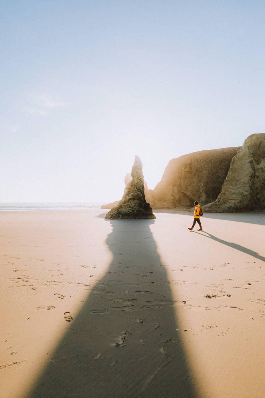 Berty walking at Face Rock State Scenic Viewpoint, Oregon Coast - TheMandagies.com