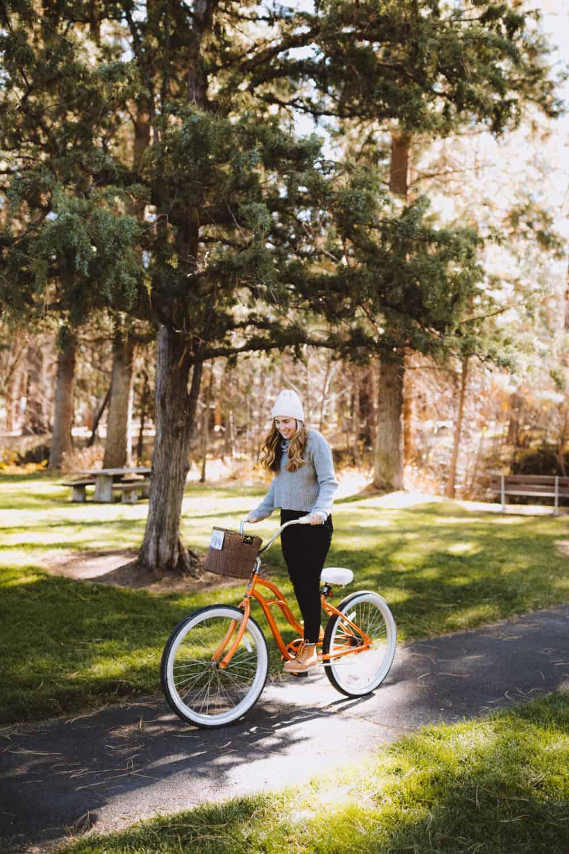 Emily Mandagie biking in Sisters, Oregon - TheMandagies.com