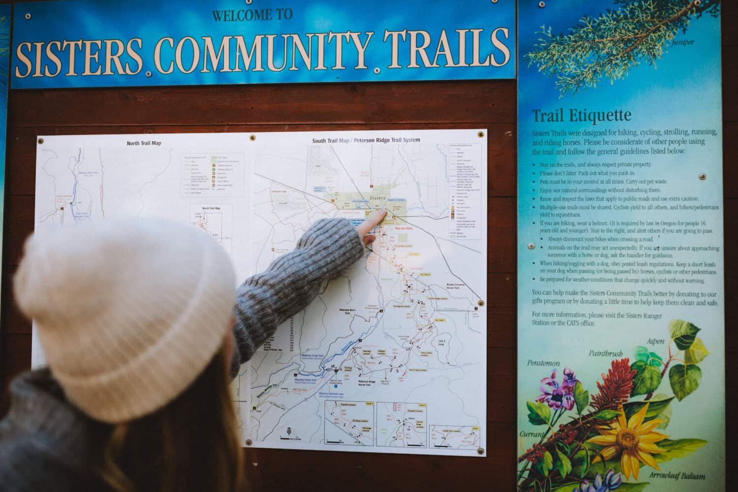 Trail Map in Sisters, Oregon - TheMandagies.com